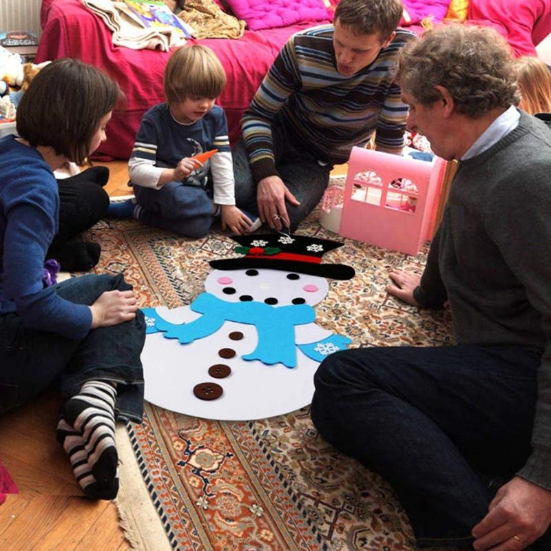 1X-Diy-Fieltro-aRbol-de-Navidad-MunEco-de-Nieve-con-Adornos-Juguetes-para-N-C8D1 miniatura 7
