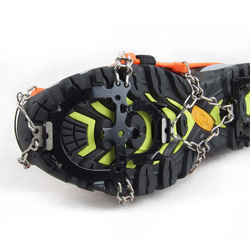 Crampons-12-Teeth-Anti-Slip-Ice-Snow-Traction-Cleats-Crampons-Ice-Snow-Grip-F1E7 thumbnail 5
