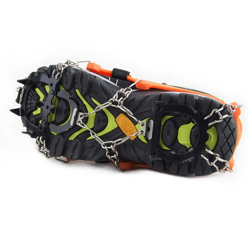 Crampons-12-Teeth-Anti-Slip-Ice-Snow-Traction-Cleats-Crampons-Ice-Snow-Grip-F1E7 thumbnail 6