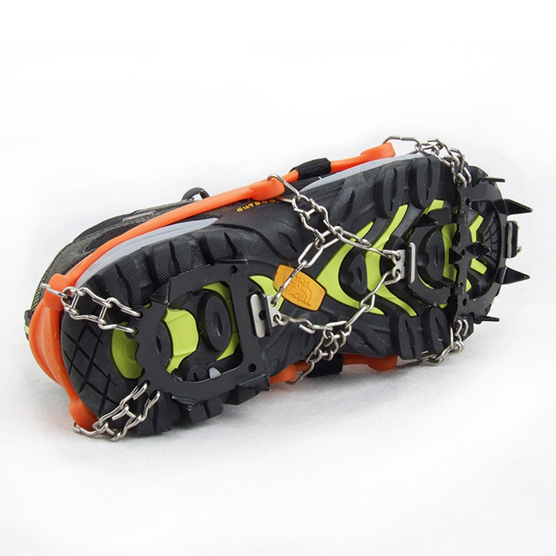 Crampons-12-Teeth-Anti-Slip-Ice-Snow-Traction-Cleats-Crampons-Ice-Snow-Grip-F1E7 thumbnail 7