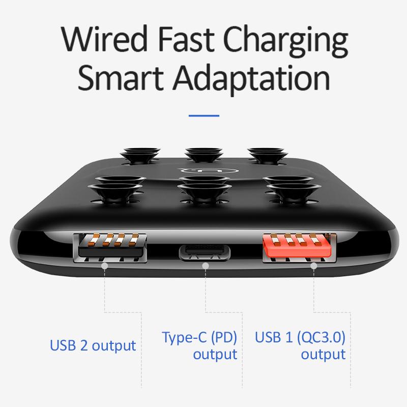 USAMS-Ventouse-a-Charge-Rapide-Chargeur-Sans-Fil-D-039-Alimentation-Mobile-Deux-T1O miniature 3
