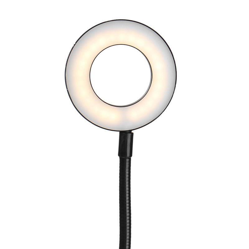 1X-Flexible-Selfie-Live-Stream-Holder-with-LED-Camera-Light-Dimmable-Lazy-DE2J9 thumbnail 8