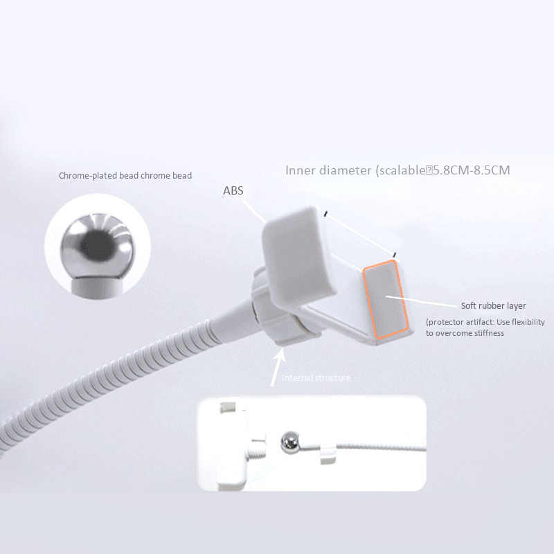 1X-Flexible-Selfie-Live-Stream-Holder-with-LED-Camera-Light-Dimmable-Lazy-DE2J9 thumbnail 16