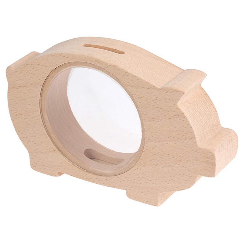Wooden-Piggy-Bank-Transparent-Money-Coins-Storage-Box-Animal-Shaped-Glass-P-T5D1 thumbnail 7