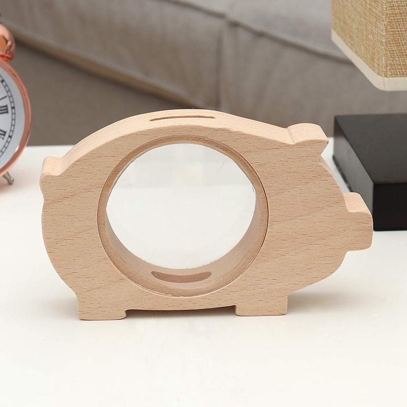 Wooden-Piggy-Bank-Transparent-Money-Coins-Storage-Box-Animal-Shaped-Glass-P-T5D1