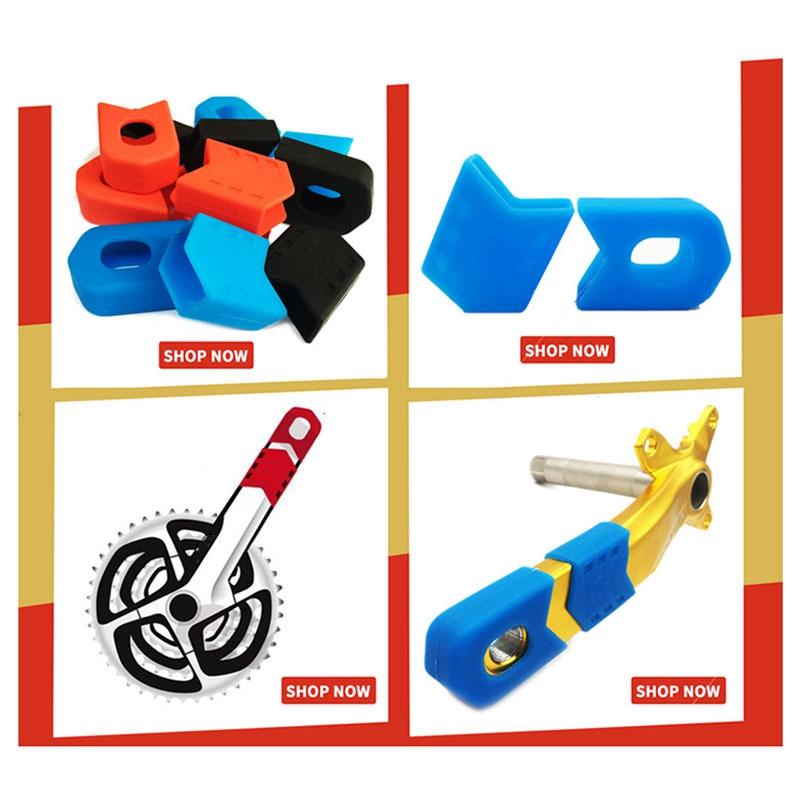 8-PCS-Bicicleta-Juego-de-Bielas-Manivela-Protector-de-Manga-Protectora-MTB-K1Q1 miniatura 6