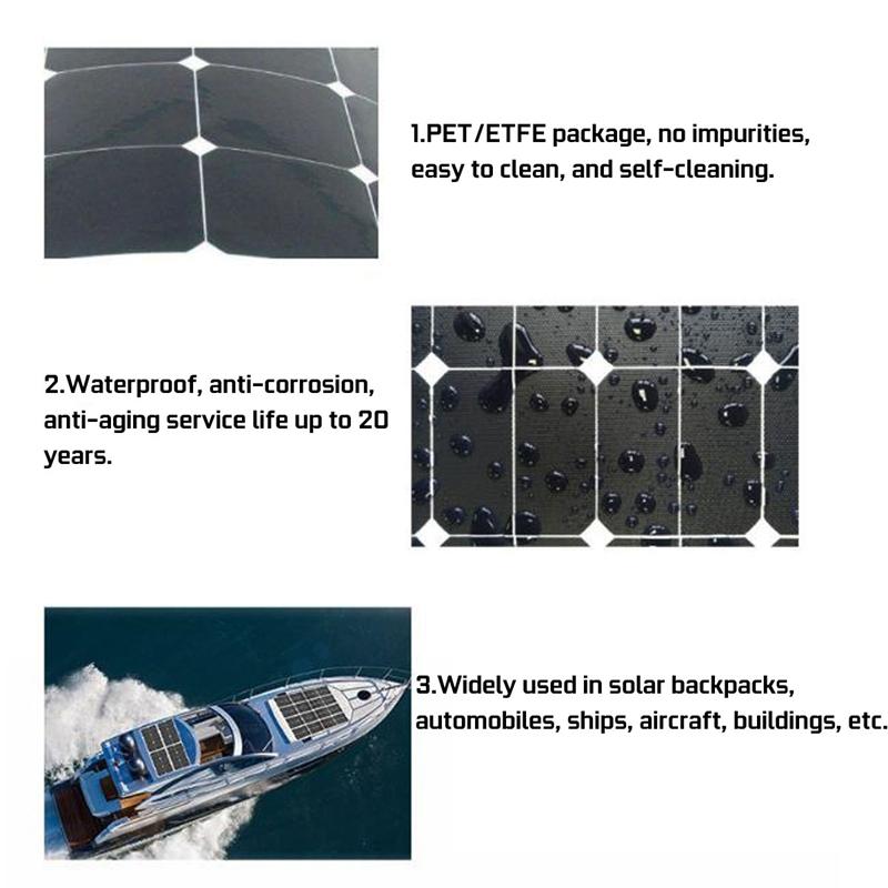 Chaud Panneau Solaire 50W12V 5V USB Panneau Solaire RéGulateur pour Voitur 2jl