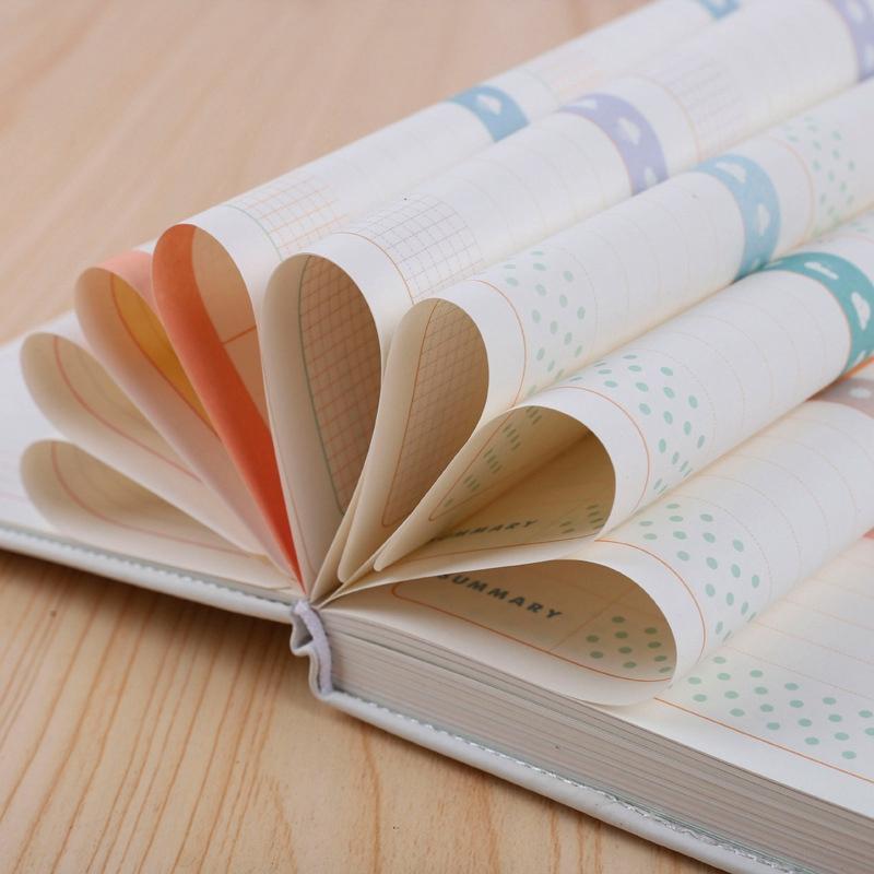 Lindo-Colorido-Diario-A6-Diario-Planificador-112-Hojas-A5S7 miniatura 4