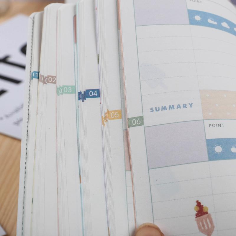 Lindo-Colorido-Diario-A6-Diario-Planificador-112-Hojas-A5S7 miniatura 11