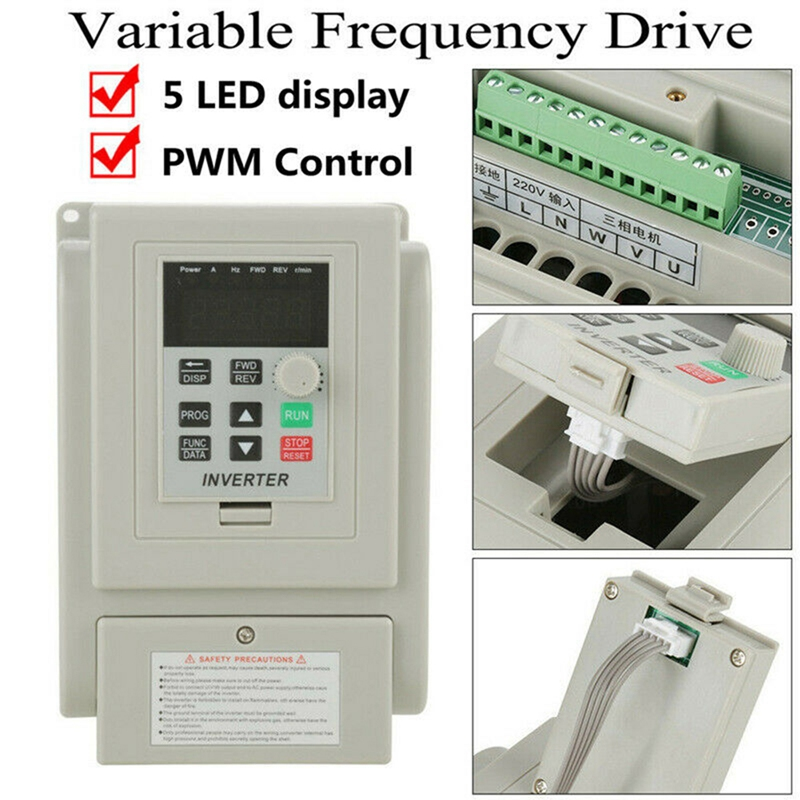 2.2KW 3HP 220V Variable Frequency Drive Inverter CNC VFD VSD Single To 3 Ph S5V0 2