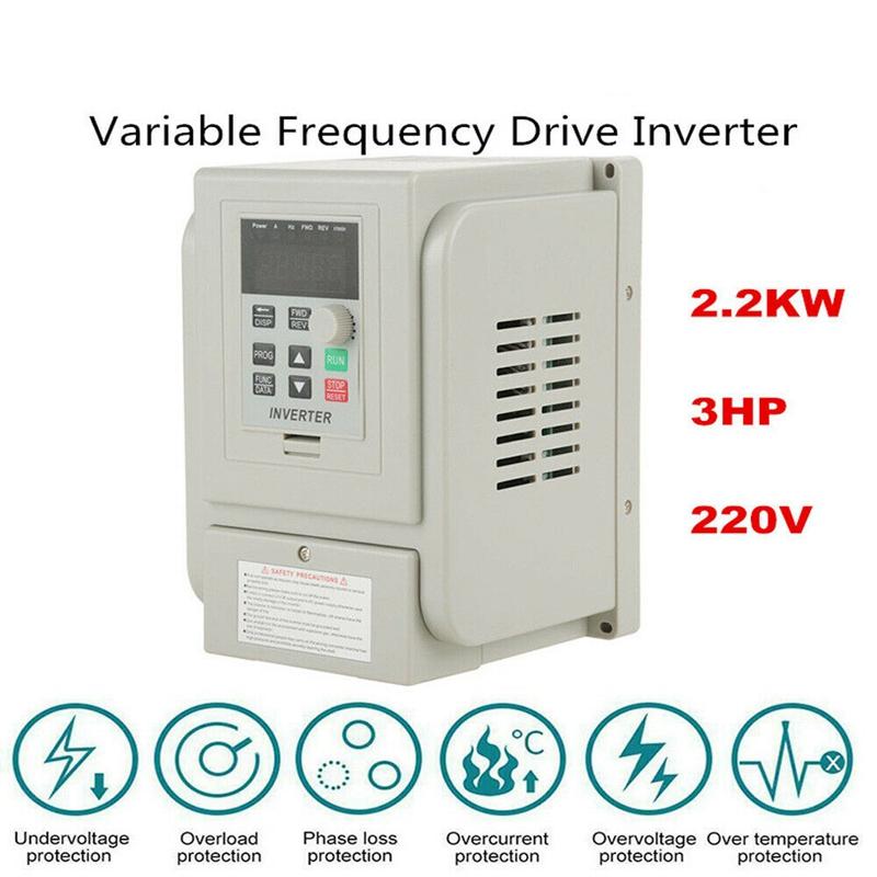 2.2KW 3HP 220V Variable Frequency Drive Inverter CNC VFD VSD Single To 3 Ph S5V0 3