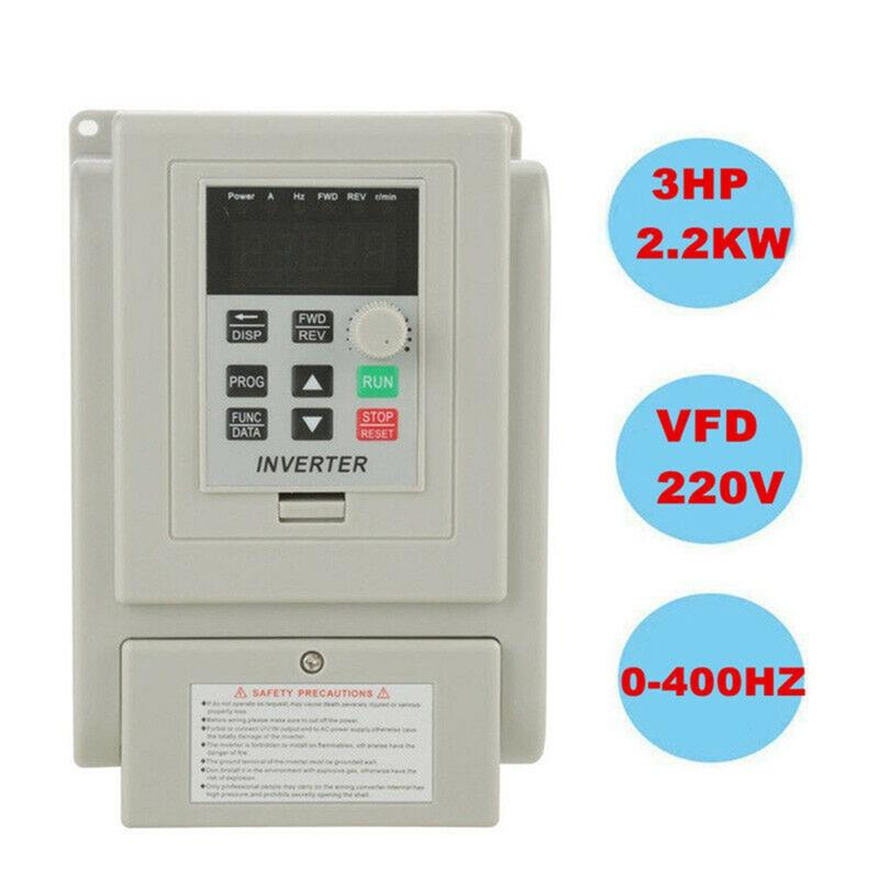 2.2KW 3HP 220V Variable Frequency Drive Inverter CNC VFD VSD Single To 3 Ph S5V0 4