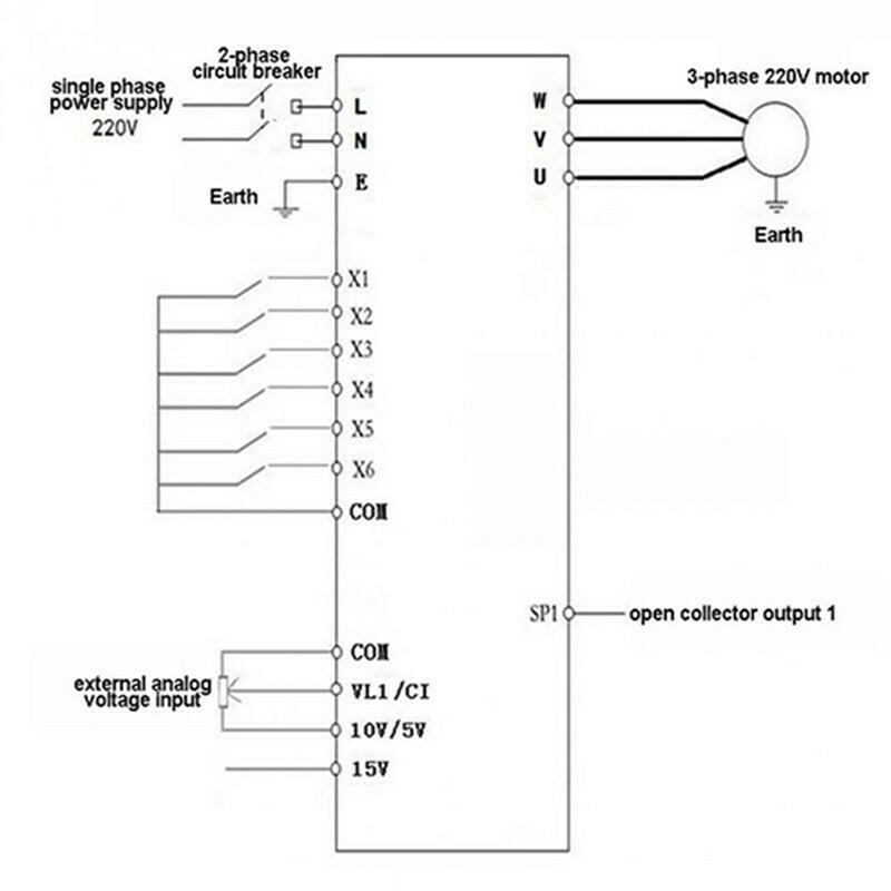 2.2KW 3HP 220V Variable Frequency Drive Inverter CNC VFD VSD Single To 3 Ph S5V0 7