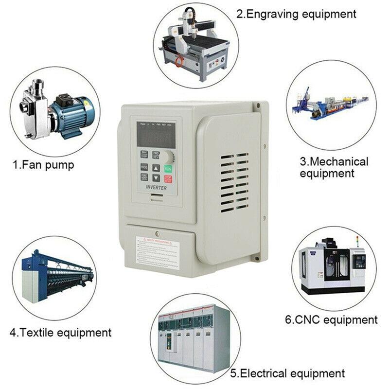 2.2KW 3HP 220V Variable Frequency Drive Inverter CNC VFD VSD Single To 3 Ph S5V0 8