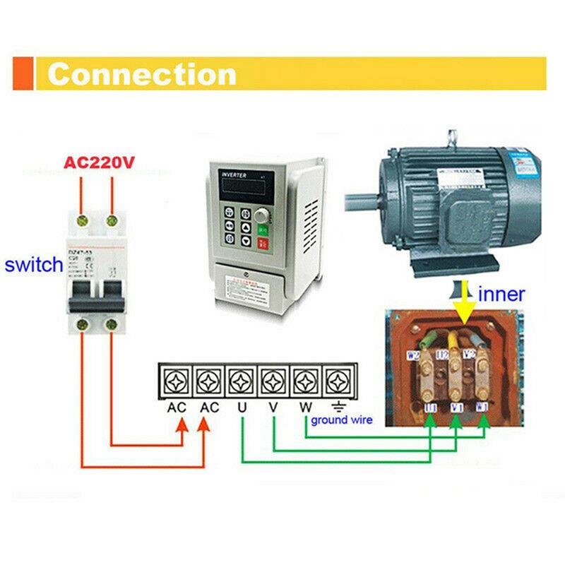 2.2KW 3HP 220V Variable Frequency Drive Inverter CNC VFD VSD Single To 3 Ph S5V0 9