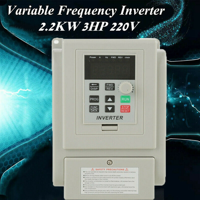2.2KW 3HP 220V Variable Frequency Drive Inverter CNC VFD VSD Single To 3 Ph S5V0 10
