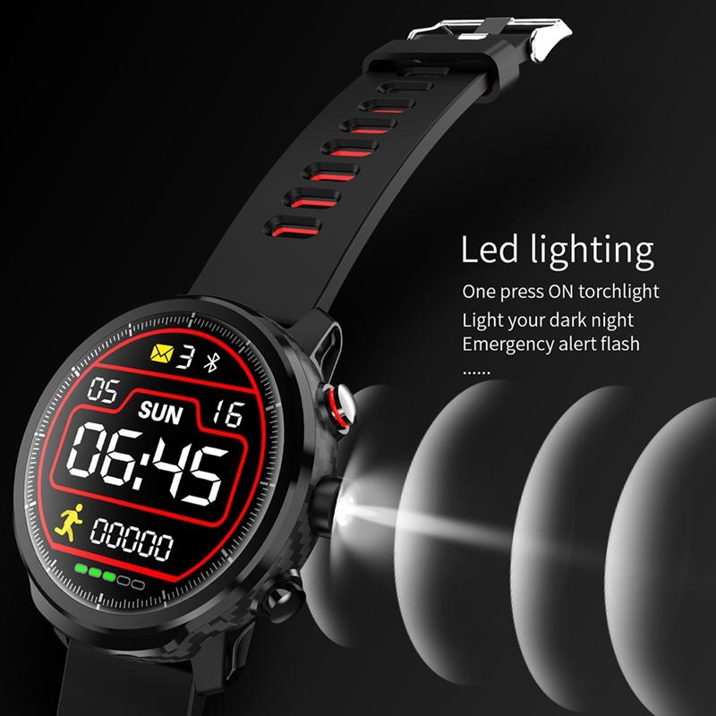 LEMFO-L5-Montre-Intelligente-Hommes-IP68-ETanche-Plusieurs-Sports-Mode-Fr-S3J9 miniature 9