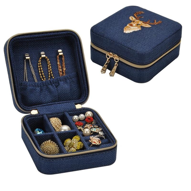 3X-Neue-Leinen-Box-Multifunktions-Halskette-Ring-Ohrringe-Armband-Aufbewahr-R4G4 Indexbild 3