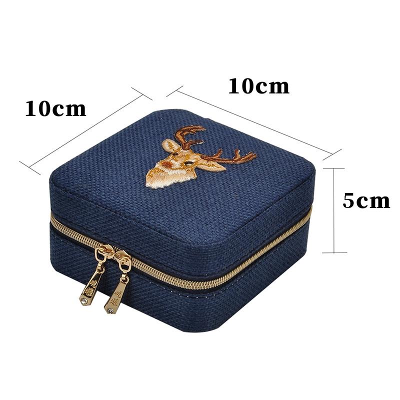 3X-Neue-Leinen-Box-Multifunktions-Halskette-Ring-Ohrringe-Armband-Aufbewahr-R4G4 Indexbild 7