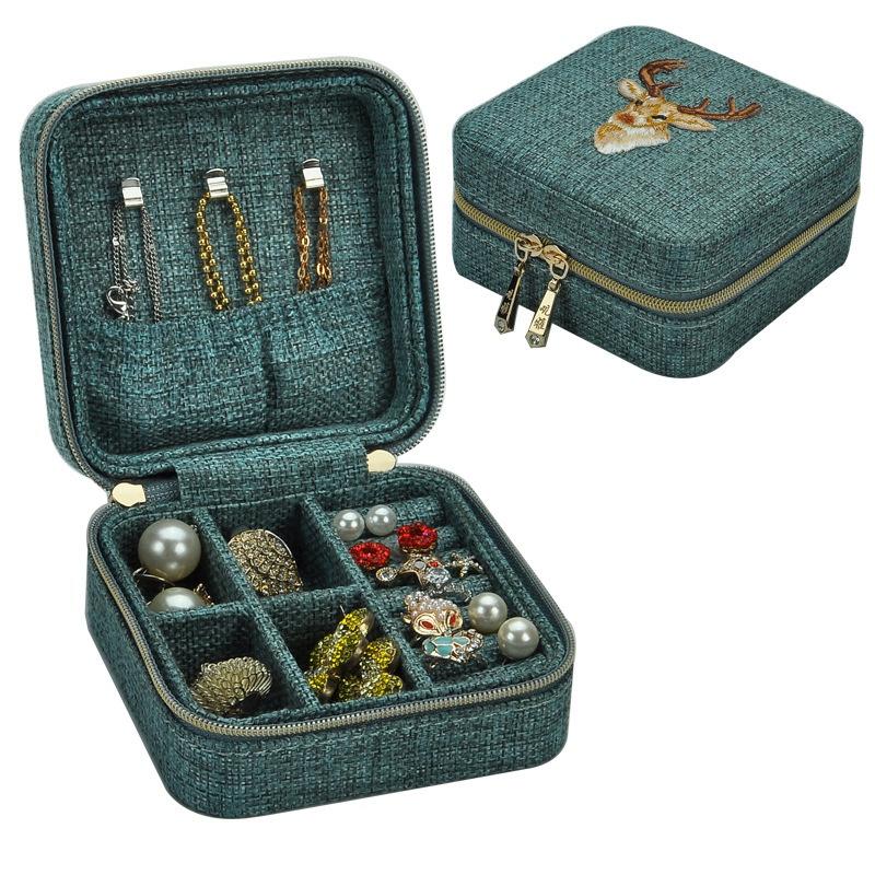 3X-Neue-Leinen-Box-Multifunktions-Halskette-Ring-Ohrringe-Armband-Aufbewahr-R4G4 Indexbild 10
