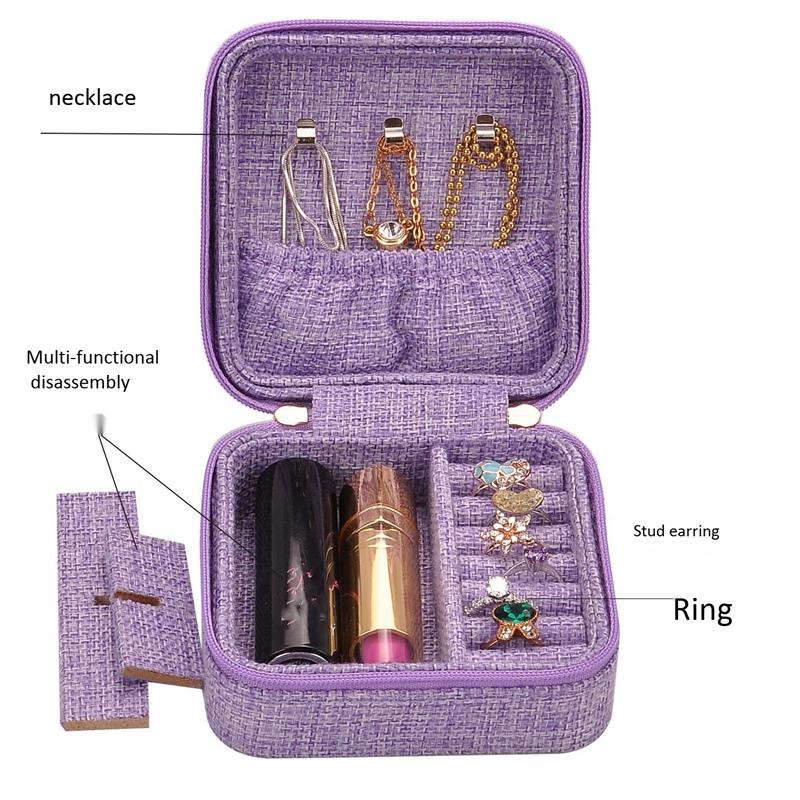 3X-Neue-Leinen-Box-Multifunktions-Halskette-Ring-Ohrringe-Armband-Aufbewahr-R4G4 Indexbild 12