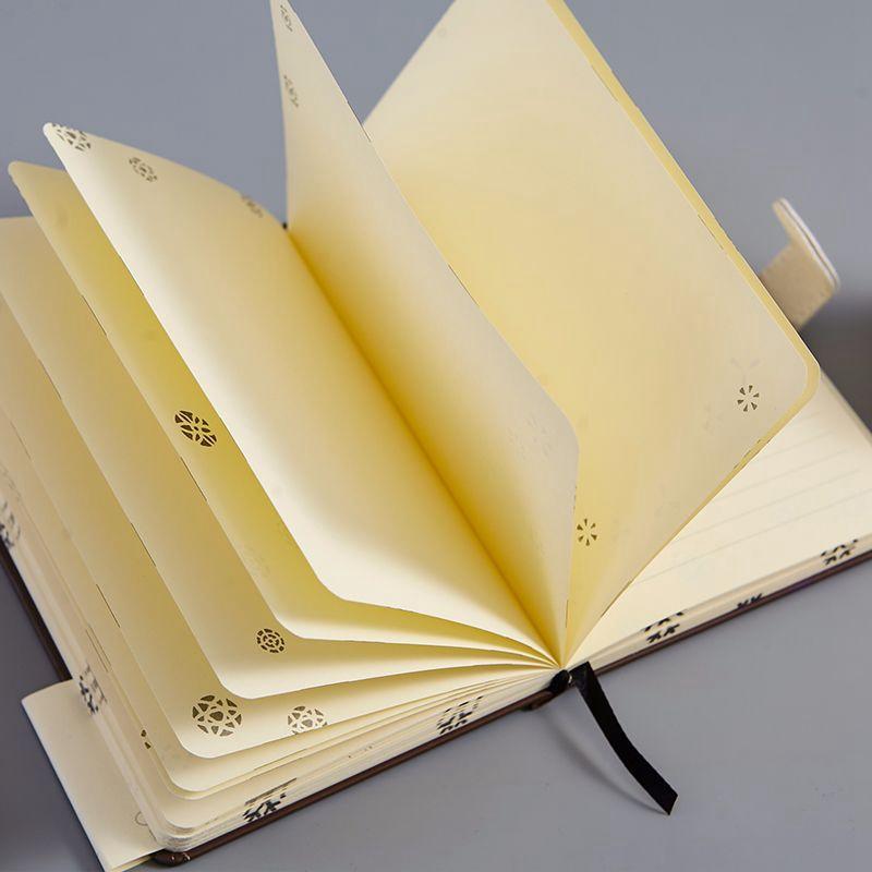 Cuaderno-Vintage-128-Hojas-Cuaderno-de-Dibujo-Diario-Cuaderno-Calidad-Diario-Pap miniatura 3