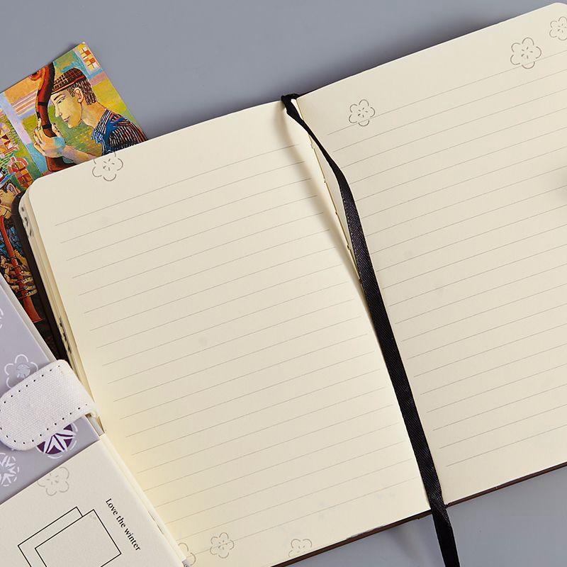Cuaderno-Vintage-128-Hojas-Cuaderno-de-Dibujo-Diario-Cuaderno-Calidad-Diario-Pap miniatura 17