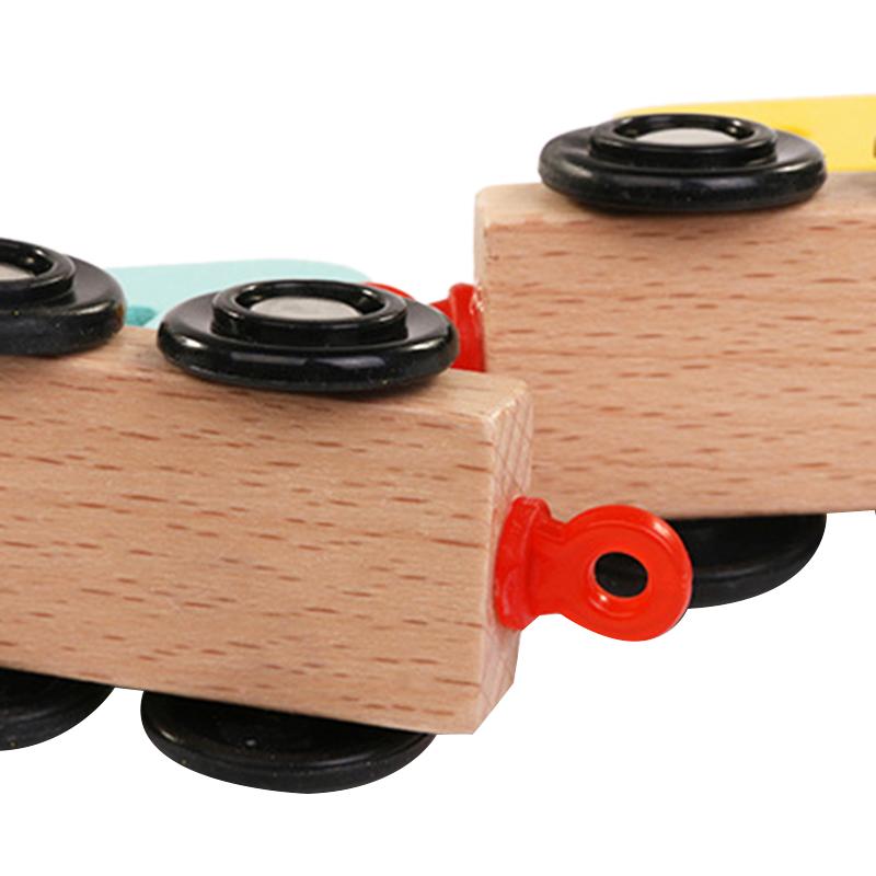 Wooden-Train-Toy-Set-11Pcs-Building-Block-Train-Toy-Train-Digital-Toy-Set-T-E3K2 thumbnail 6