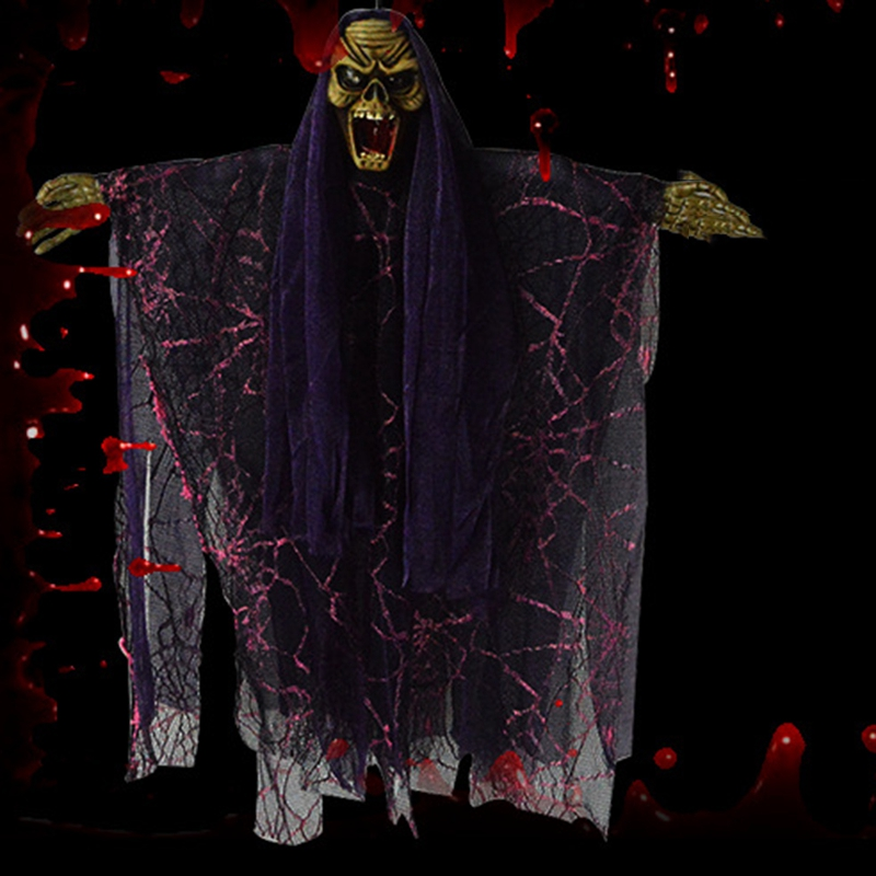 Halloween-Electric-Voice-Control-Horror-Toy-Tricky-Toy-Halloween-DecorationX2F6 thumbnail 5
