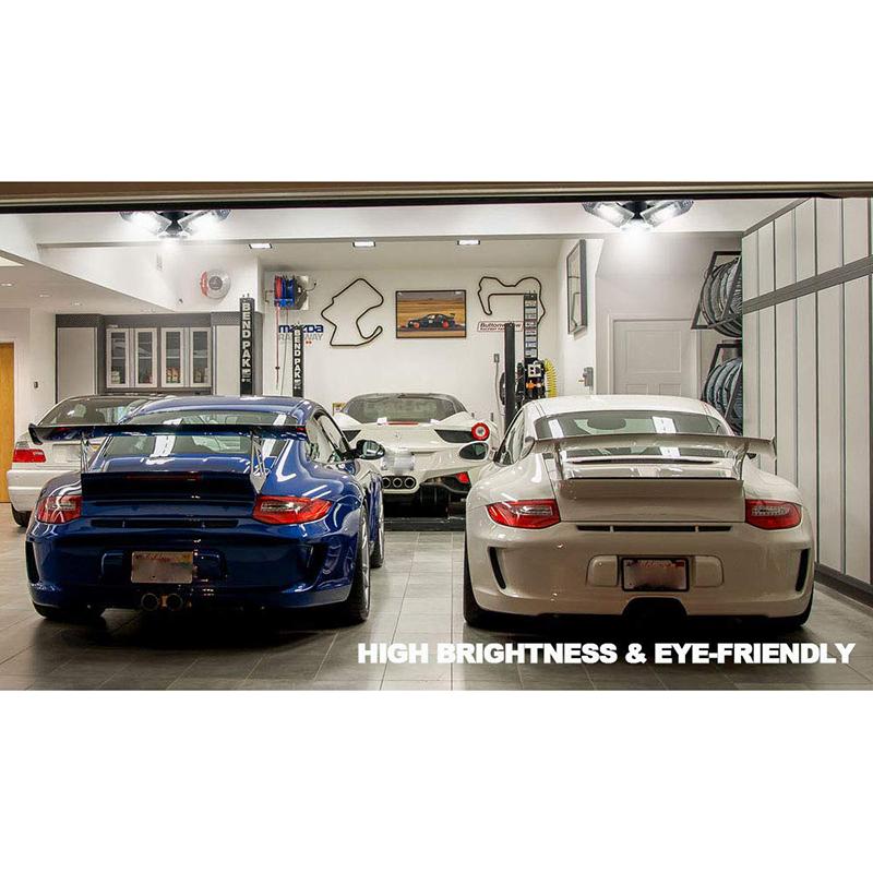 60W-LED-Garage-Lichter-E26-E27-6000LM-LED-Garage-Decken-Leuchten-fuer-Ful-C1L3 Indexbild 5