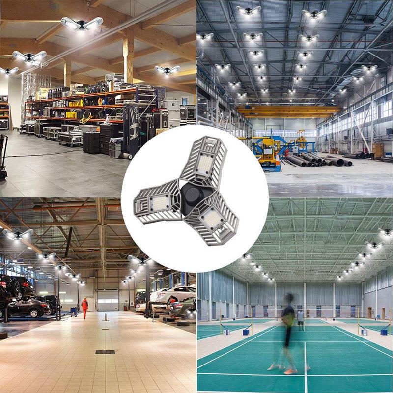 60W-LED-Garage-Lichter-E26-E27-6000LM-LED-Garage-Decken-Leuchten-fuer-Ful-C1L3 Indexbild 6