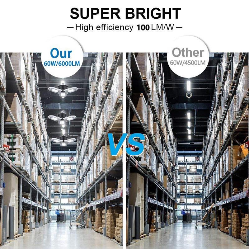 60W-LED-Garage-Lichter-E26-E27-6000LM-LED-Garage-Decken-Leuchten-fuer-Ful-C1L3 Indexbild 9