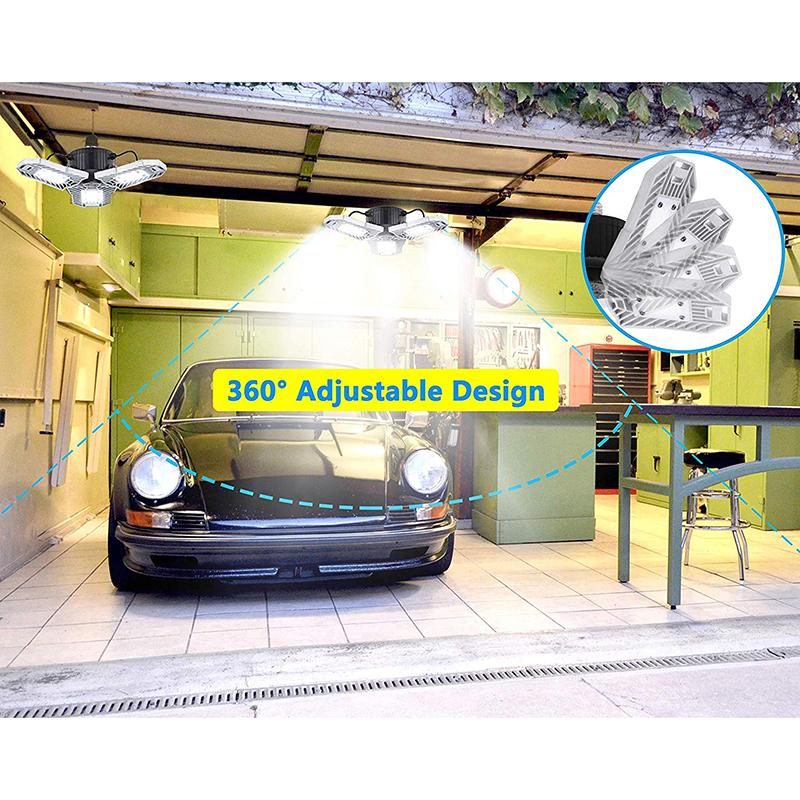 60W-LED-Garage-Lichter-E26-E27-6000LM-LED-Garage-Decken-Leuchten-fuer-Ful-C1L3 Indexbild 11