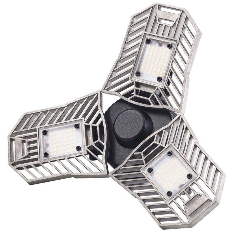 60W-LED-Garage-Lichter-E26-E27-6000LM-LED-Garage-Decken-Leuchten-fuer-Ful-C1L3 Indexbild 2