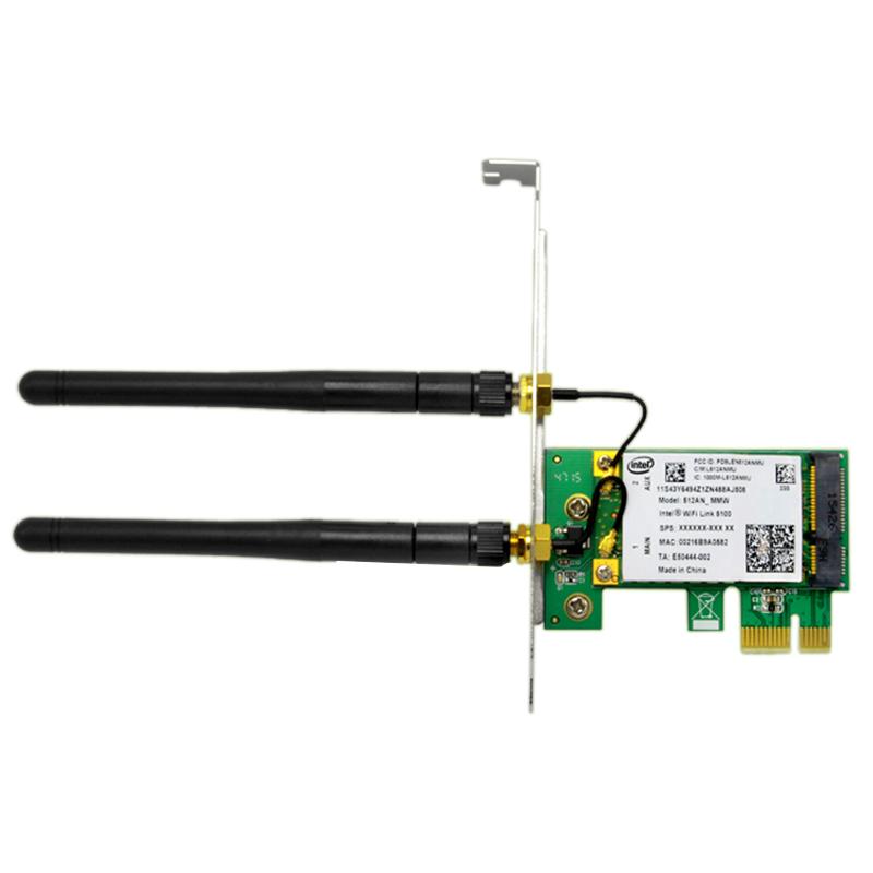 1X-SSU-300M-Dualband-WiFi-Wireless-PCIe-X1-Adapter-Desktop-Karte-fuer-5100-CP8O5 Indexbild 2