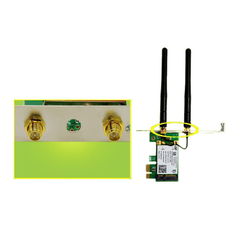 1X-SSU-300M-Dualband-WiFi-Wireless-PCIe-X1-Adapter-Desktop-Karte-fuer-5100-CP8O5 Indexbild 5