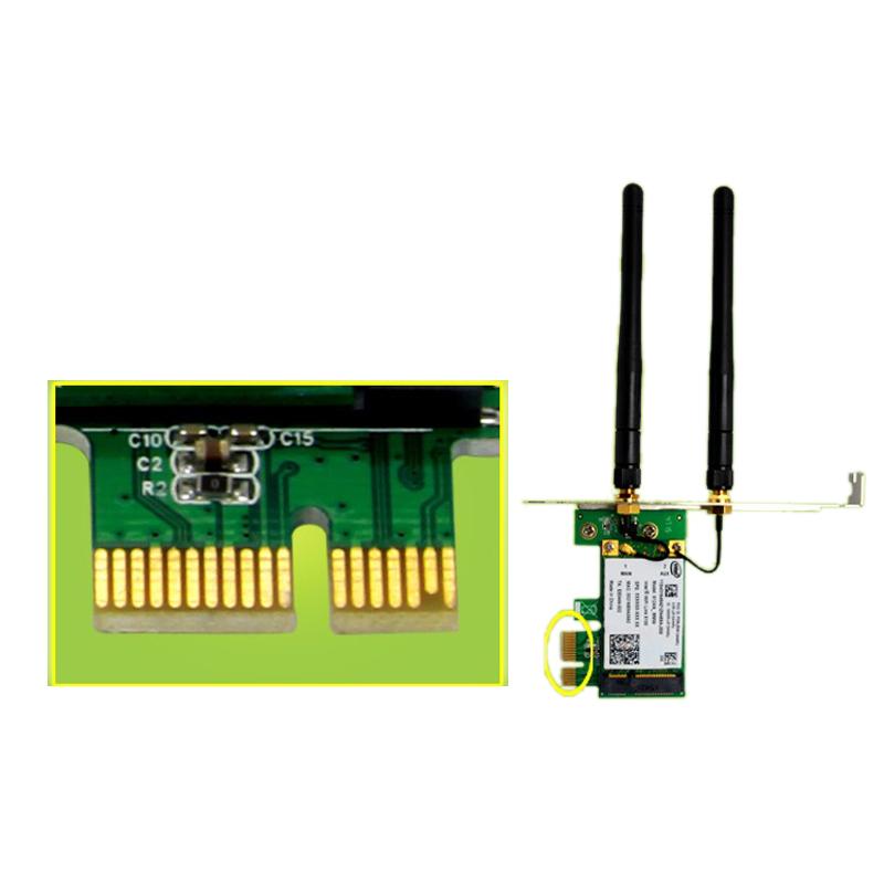 1X-SSU-300M-Dualband-WiFi-Wireless-PCIe-X1-Adapter-Desktop-Karte-fuer-5100-CP8O5 Indexbild 8