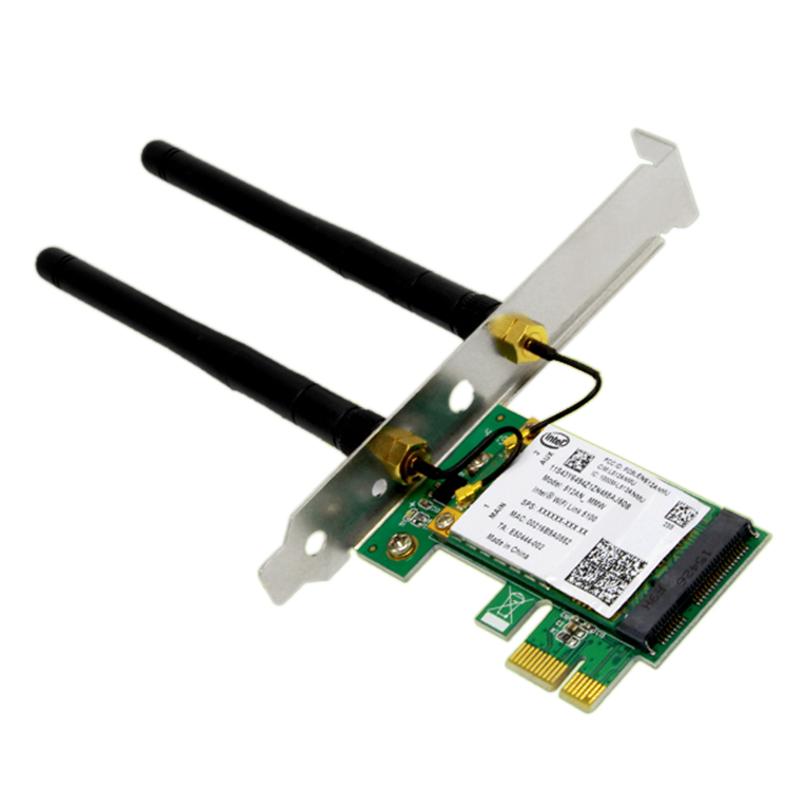 1X-SSU-300M-Dualband-WiFi-Wireless-PCIe-X1-Adapter-Desktop-Karte-fuer-5100-CP8O5