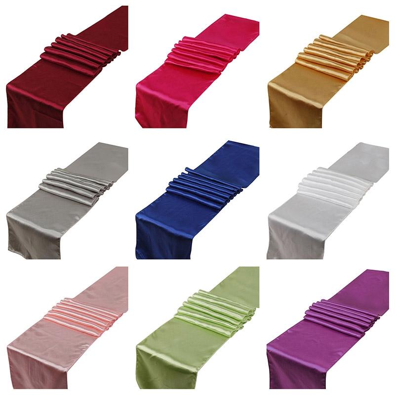 10Pcs-Set-30X275Cm-Jacquard-Style-Satin-Table-Runner-for-Hotel-Table-DecoraN2L6 thumbnail 7