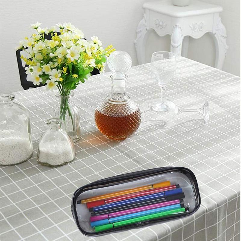 Estuche-de-LaPices-de-Pulma-de-PVC-Transparente-de-6-Piezas-con-Cremallera-para miniatura 11