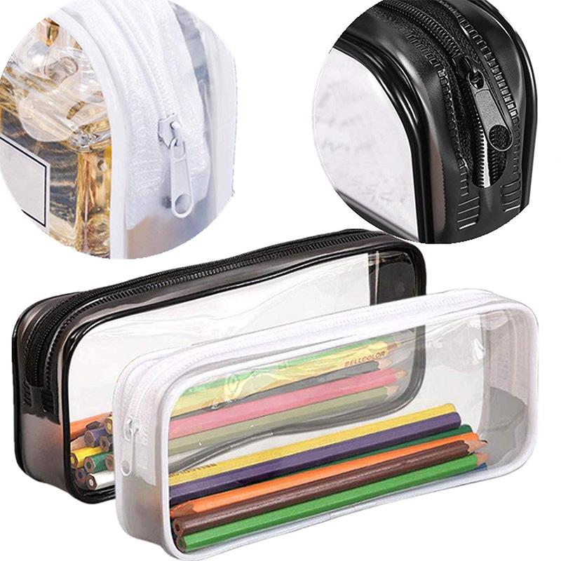 Estuche-de-LaPices-de-Pulma-de-PVC-Transparente-de-6-Piezas-con-Cremallera-para miniatura 12