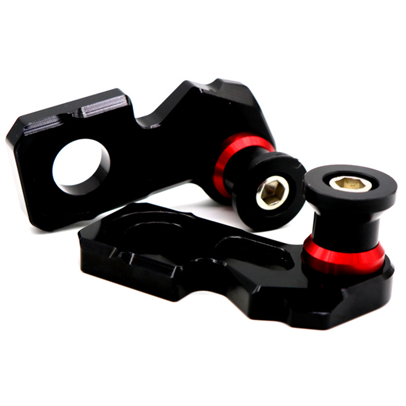 Motorcycle-CNC-Aluminum-Chain-Adjuster-Block-Rear-Swingarm-Spools-for-Honda-A5V2 thumbnail 7