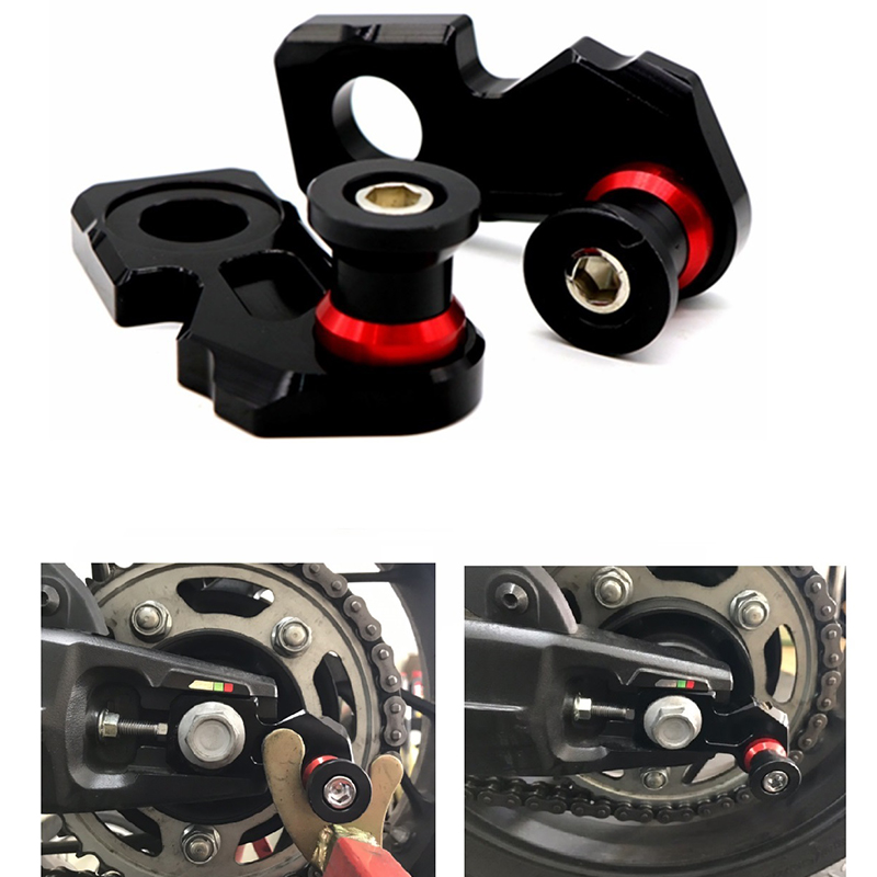 Motorcycle-CNC-Aluminum-Chain-Adjuster-Block-Rear-Swingarm-Spools-for-Honda-A5V2