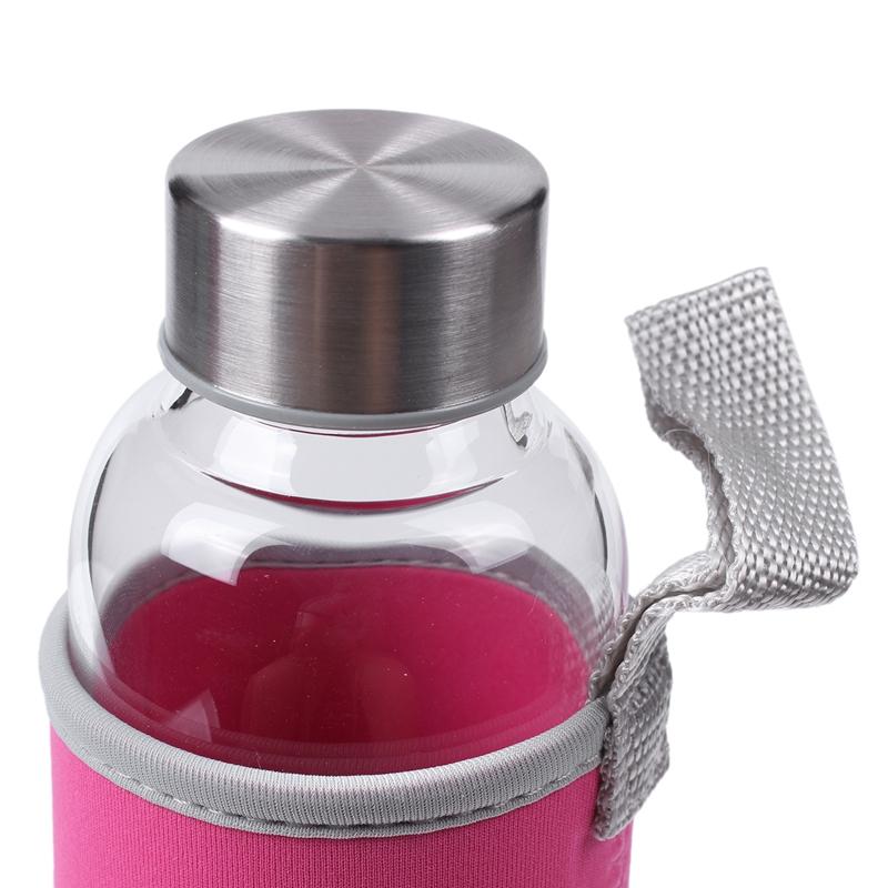 1X-Bouteille-d-039-eau-de-sport-en-verre-avec-filtre-a-the-Infuser-sac-de-protec-3i8 miniature 9