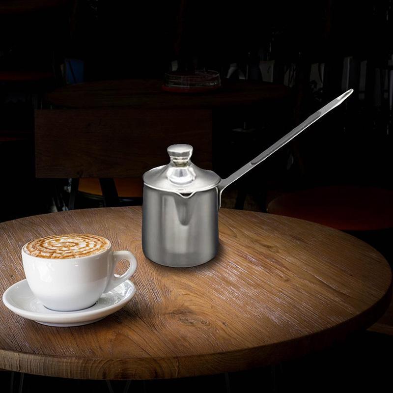 miniature 3 - Turc-Grecque-Arabe-Style-CafetieRe-en-Acier-Inoxydable-Longue-PoigneE-Pot-a-T9B1