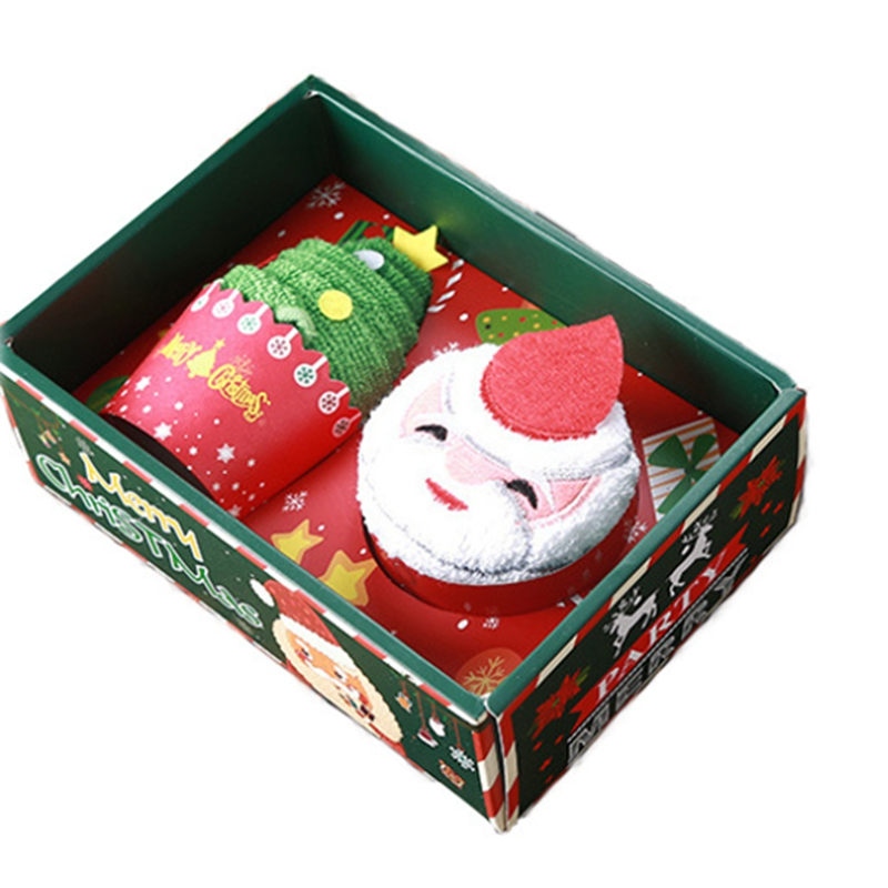 Weihnachten-Handtuch-Santa-Schneemann-Weihnachten-Baum-Baumwolle-Super-Weic-Y2L7 Indexbild 5