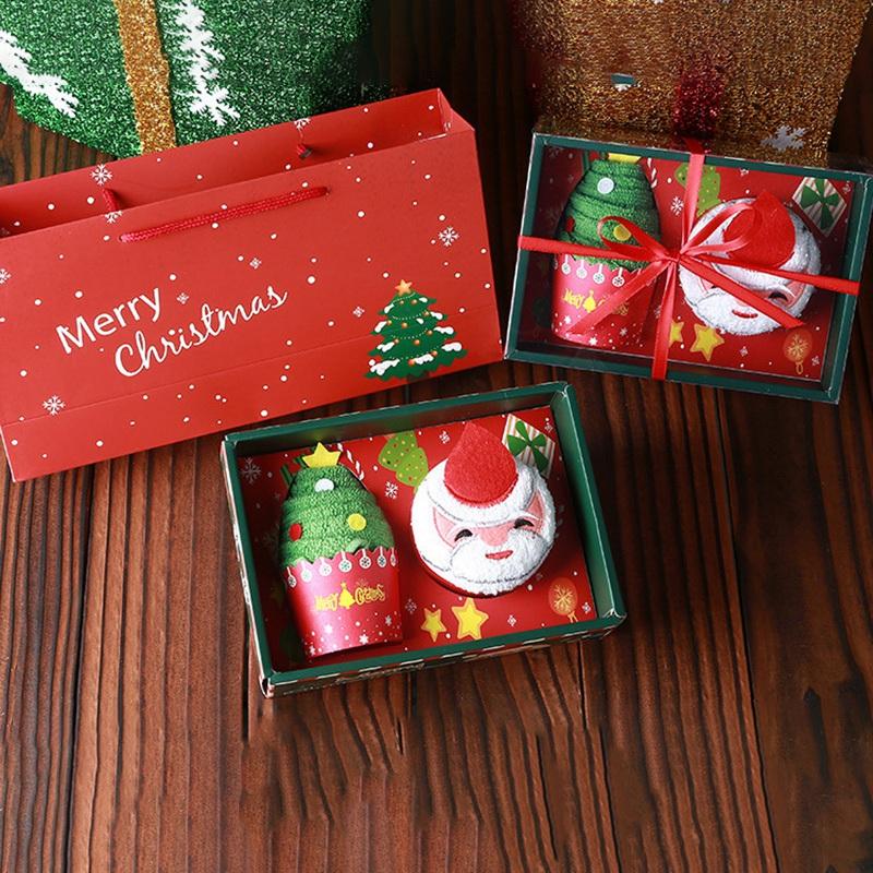 Weihnachten-Handtuch-Santa-Schneemann-Weihnachten-Baum-Baumwolle-Super-Weic-Y2L7 Indexbild 6