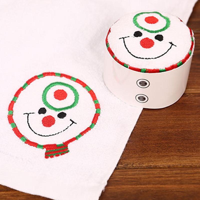 Weihnachten-Handtuch-Santa-Schneemann-Weihnachten-Baum-Baumwolle-Super-Weic-Y2L7 Indexbild 7