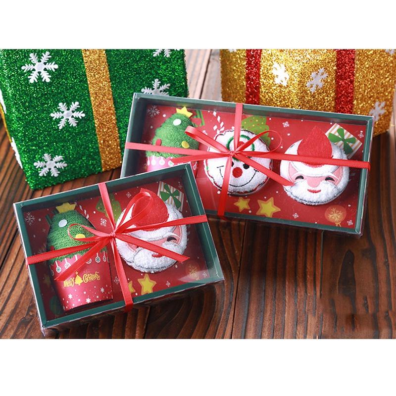 Weihnachten-Handtuch-Santa-Schneemann-Weihnachten-Baum-Baumwolle-Super-Weic-Y2L7 Indexbild 8