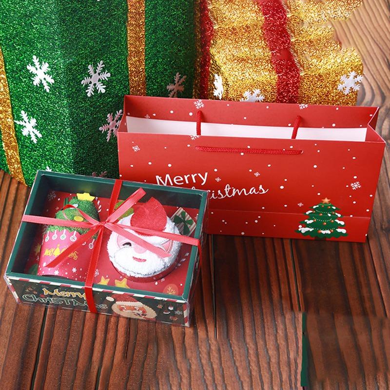 Weihnachten-Handtuch-Santa-Schneemann-Weihnachten-Baum-Baumwolle-Super-Weic-Y2L7 Indexbild 9